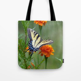 Yellow female Eastern Tiger Swallowtail  Tote Bag