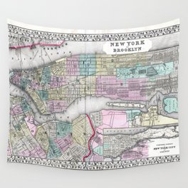 New York City and Brooklyn Wall Tapestry