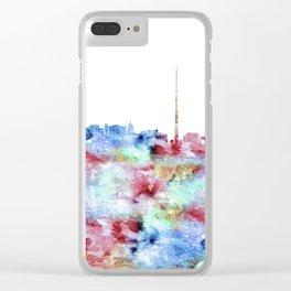 Dublin Skyline Ireland Clear iPhone Case