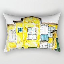 Old yellow building Rectangular Pillow