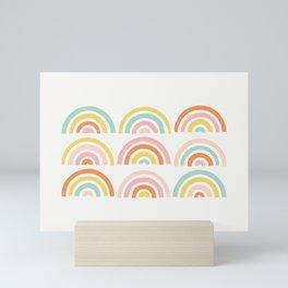 Stamped Rainbows - Tangerine Mini Art Print