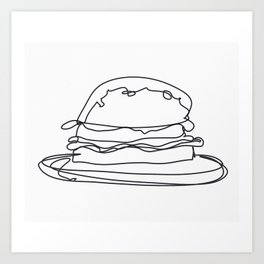 Cheeseburger Cheeseburger Art Print