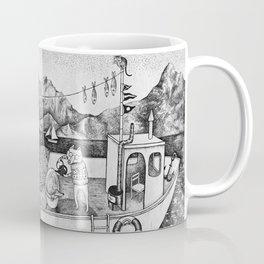 Fox on Fishing-boat Coffee Mug
