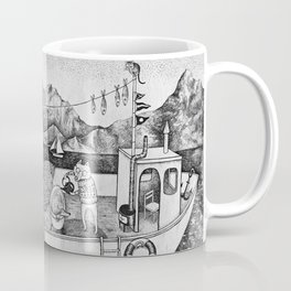 Fox on Fishing-boat Coffee Mug