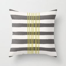 Rows Throw Pillow