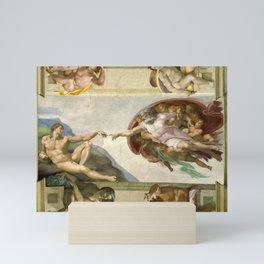 "Michelangelo ""Creation of Adam"" Mini Art Print"