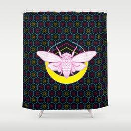 Geometric Cicada Shower Curtain