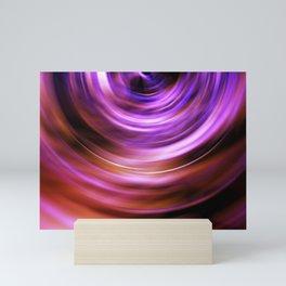 Abstract wavy motion blur background Mini Art Print