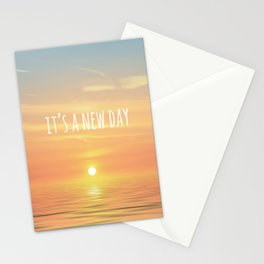 It's A New Day (Typography) Stationery Cards