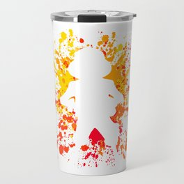 Anime Manga Paint Splatter Inspired Shirt Travel Mug