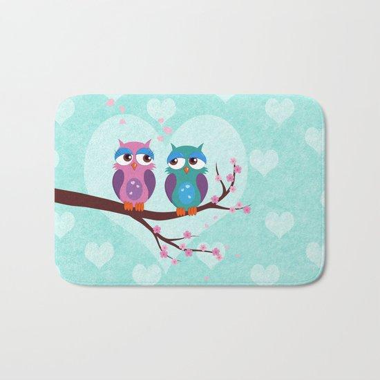 Love owls Bath Mat