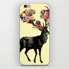 Spring Itself Deer Floral (Cream) iPhone & iPod Skin