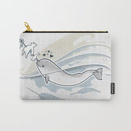 The Friendly Narwhal Carry-All Pouch