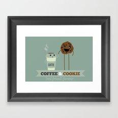 COFFEE & COOKIE Framed Art Print