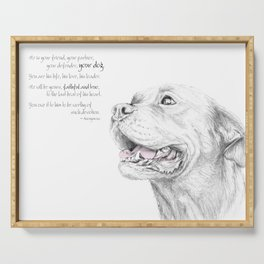 Murphy :: Loyalty [with Quote] Serving Tray
