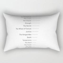 Tarot Major Arcana - The Fool's Morning Coffee Rectangular Pillow