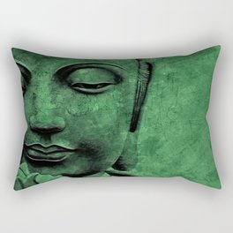 Buddha Head Rectangular Pillow