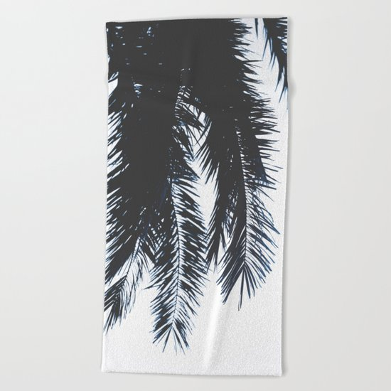 Palm Tree leaves abstract Beach Towel
