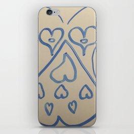 Skull Hearts iPhone Skin