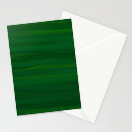 Emerald Green Stripes Abstract Stationery Cards