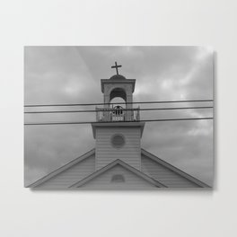 Crooked Cross on a Church, Out of Town Metal Print