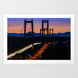 Sunset Crossing Art Print