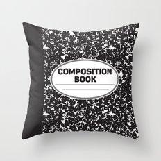 Composition Notebook College School Student Geek Nerd Throw Pillow