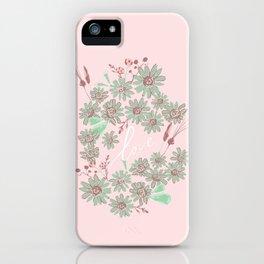 Greeting Petals iPhone Case