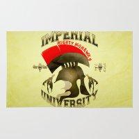 skyrim Area & Throw Rugs featuring Imperial University(Skyrim) by Chubbybuddhist