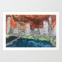 """Saucy Cityscape 2"" by Jordan Halstead Art Print"