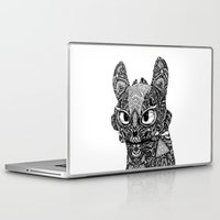toothless Laptop & iPad Skins featuring TOOTHLESS by FilippoCardu