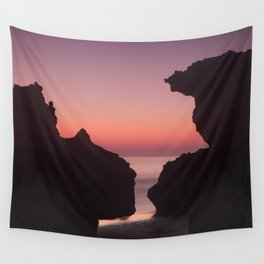 Roche Reefs At Sunset. Wall Tapestry