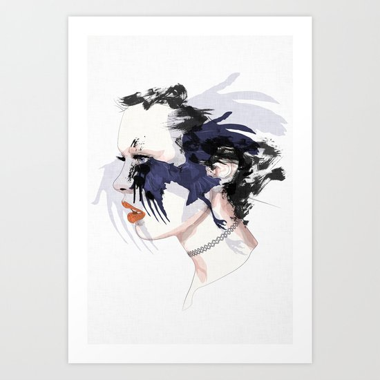 black bird Art Print