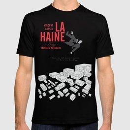 La Haine (Hate) Vincent Cassel, Mathieu Kassovitz, alternative movie poster, banlieue french film T-shirt
