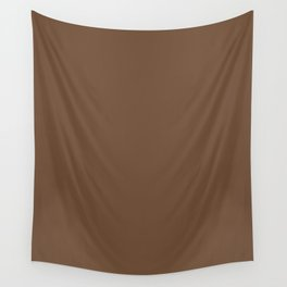 Coffee Brown Wall Tapestry