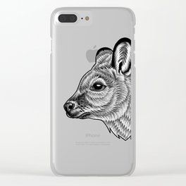 Wallaby - ink illustration Clear iPhone Case