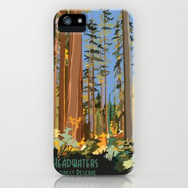 Vintage poster - Headwaters Forest Reserve iPhone Case