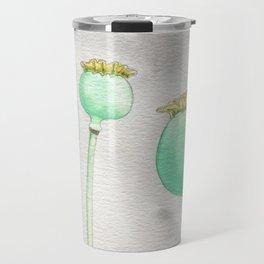Four Poppy Pods Travel Mug