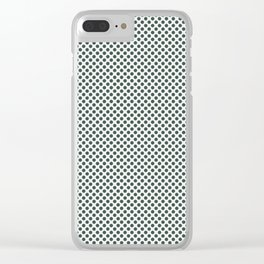 PPG Glidden Trending Colors of 2019 Night Watch PPG1145-7 Polka Dots on Delicate White PPG1001-1 Clear iPhone Case
