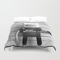 finn Duvet Covers featuring Finn Lineup by Christophe Chiozzi