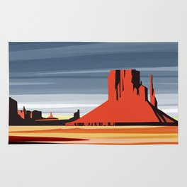 Monument Valley sunset magic realisim Rug
