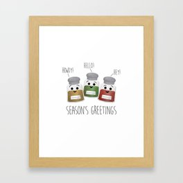 Season's Greetings | Garlic, Oregano & Paprika Framed Art Print