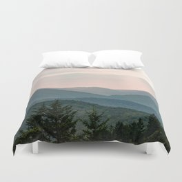 Smoky Mountain Pastel Sunset Duvet Cover
