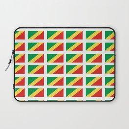 Flag of congo -congolais,congolaise,congolese,brazzaville,kongo,sangha,teke, m'bochi Laptop Sleeve