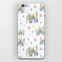 camping iPhone & iPod Skins featuring Camping by JocoLab
