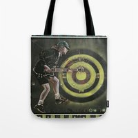 acdc Tote Bags featuring AC/DC by Ray Stephenson