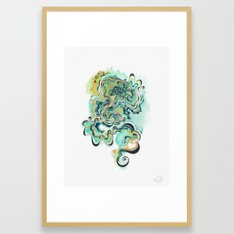 Displacement Framed Art Print