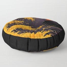 The Great Autumn Wave Floor Pillow