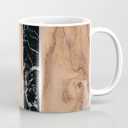 Wood Grain Stripes - Black Granite #175 Coffee Mug