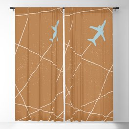 The Jet Set - Rust Blackout Curtain